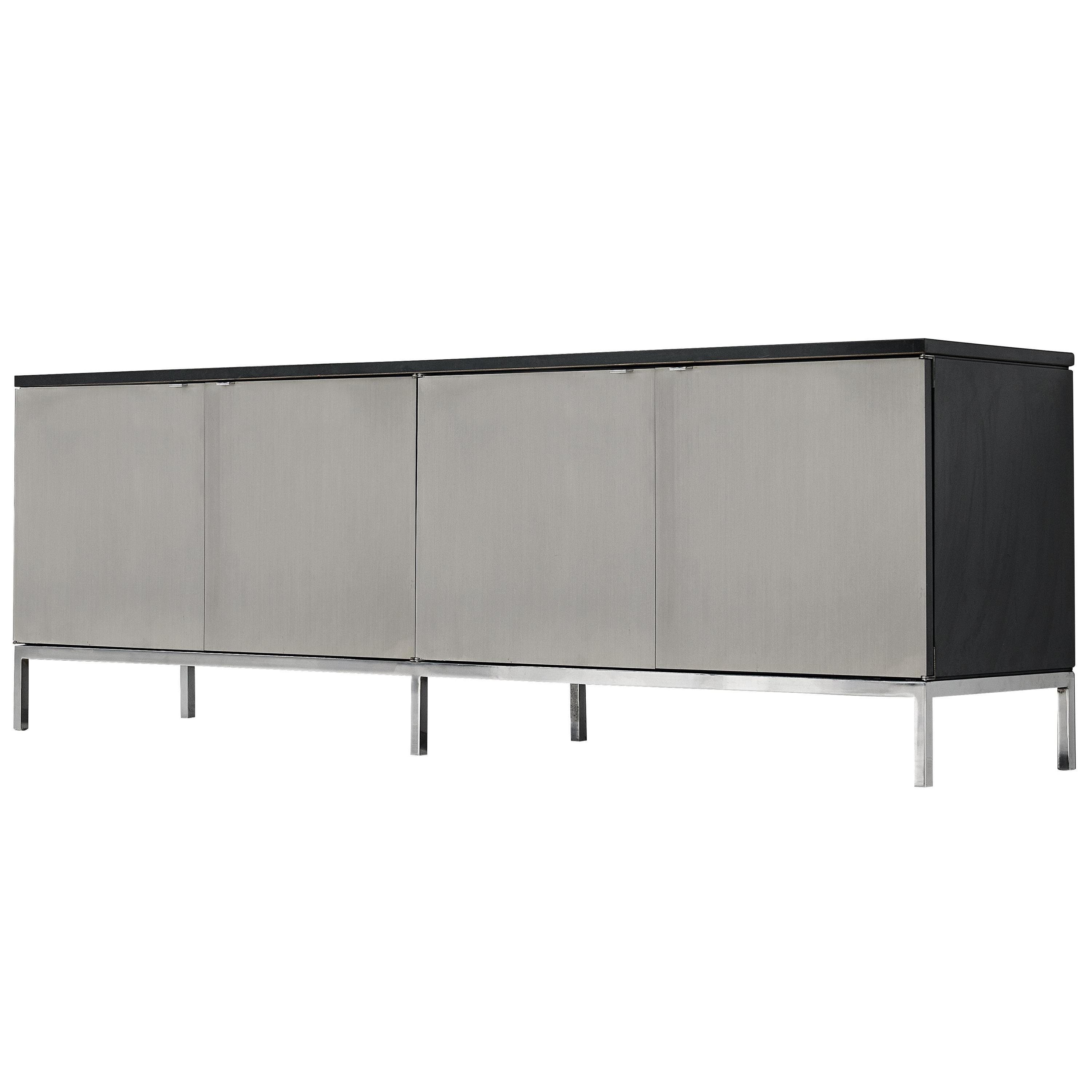 Florence Knoll Sideboard with Brushed Steel Doors