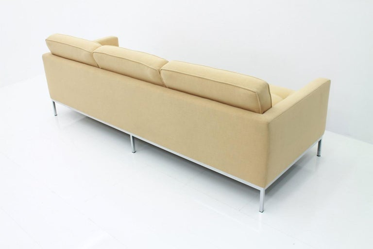 Metal Florence Knoll Sofa for Knoll International For Sale