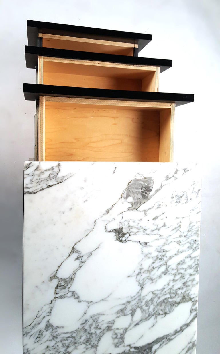 American Florence Knoll Style Credenza with Matching File Cabinet by by Giacomo Buzzitta For Sale