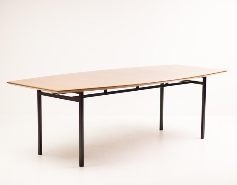 Enameled Florence Knoll Teak Model 578 Table For Sale