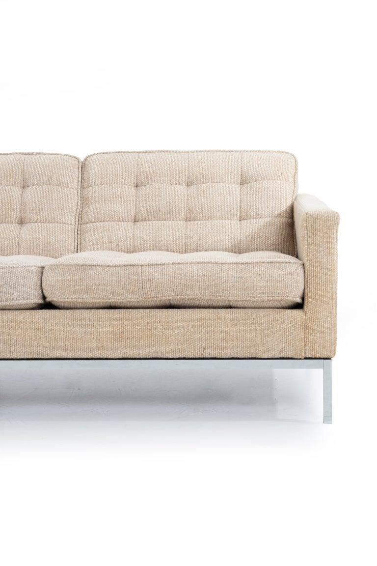 Florence Knoll Three-Seat Tuxedo Sofa For Sale 3