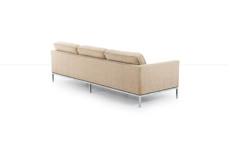 Florence Knoll Three-Seat Tuxedo Sofa For Sale 1