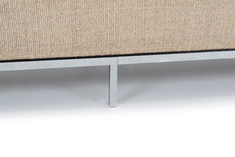 Florence Knoll Three-Seat Tuxedo Sofa For Sale 2
