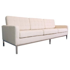 Florence Knoll Three-Seat Sofa for Knoll International, New Upholstery