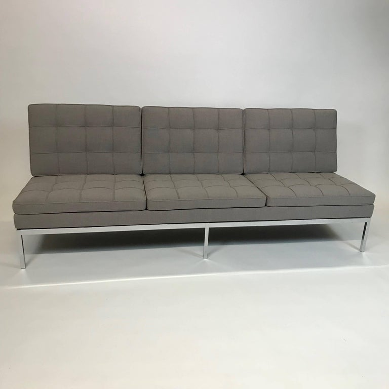 Florence Knoll Upholstered Three-Seat Armless Sofa