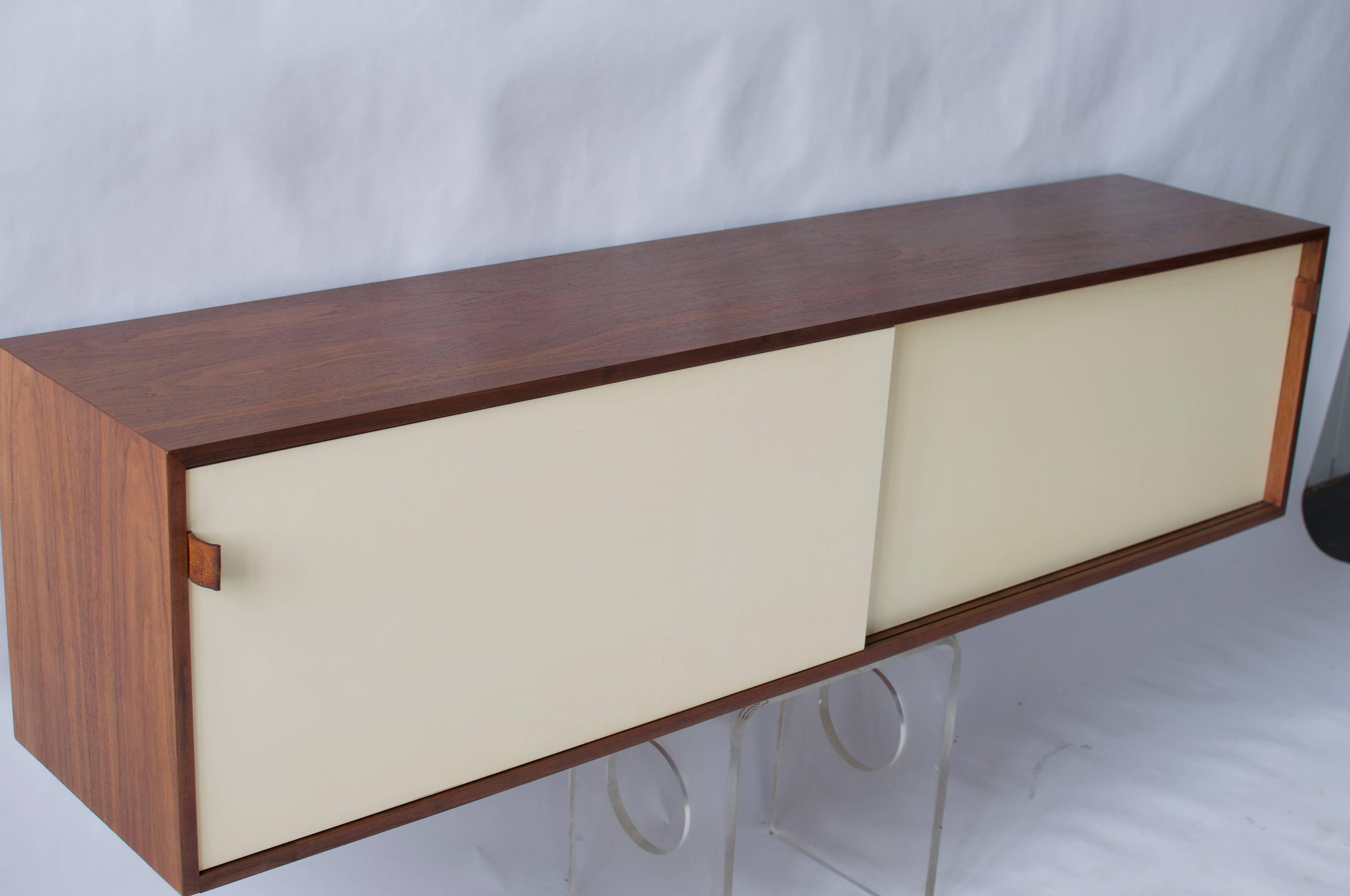 Mid Century Modern Florence Knoll Wall Hanging Cabinet For Sale