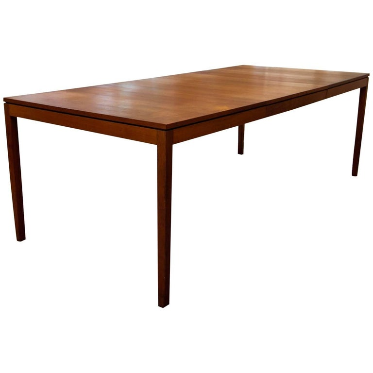a84b8fbc14ff Florence Knoll Walnut Extension Dining Table at 1stdibs
