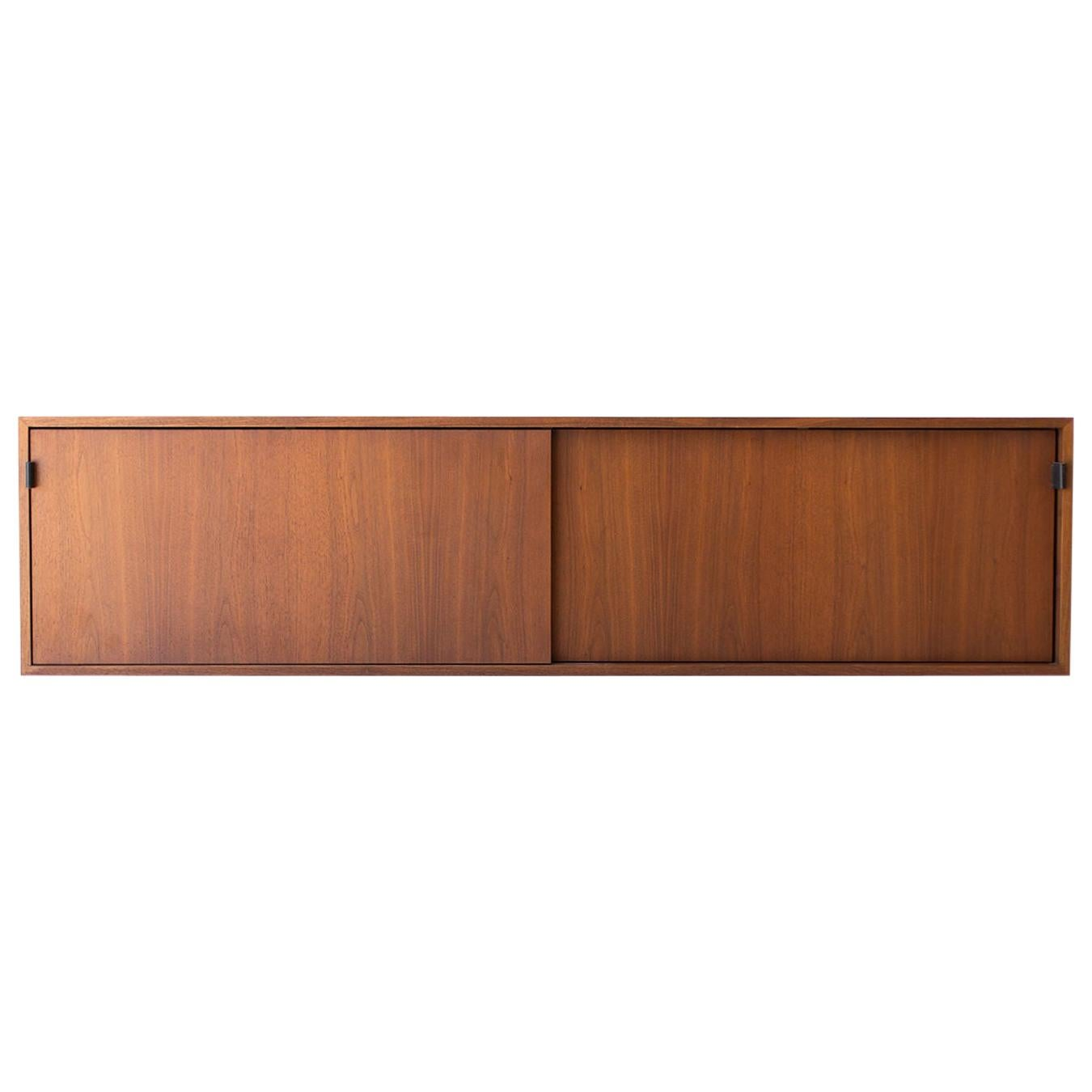 Florence Knoll Walnut Floating Credenza for Knoll Inc.