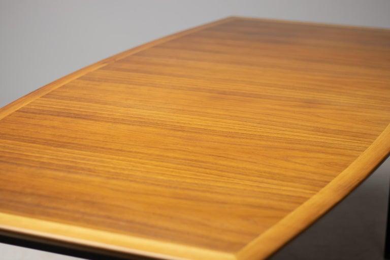 Enameled Florence Knoll Walnut Model 578 Table For Sale