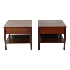 Florence Knoll Walnut Night Stands