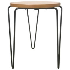 Florence Knoll Wrought Iron Hairpin Base Stool