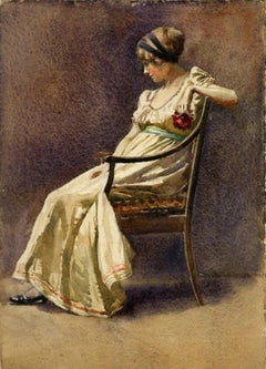 Woman Seated in Chair by Florence Vincent Robinson (1874-1937, American)