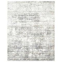 Florencio, Contemporary Abstract Handmade Area Rug, Ash