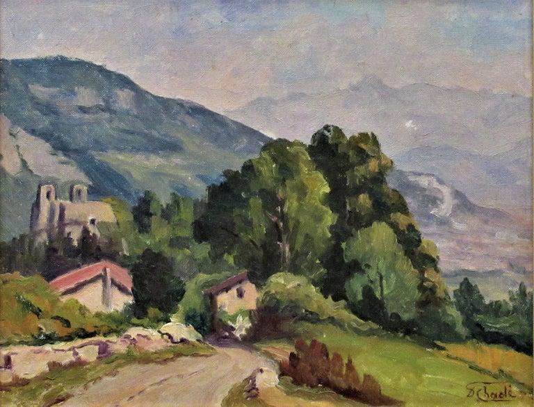 Cote de Lassange, Grenoble Belldone - Painting by Florent Chade