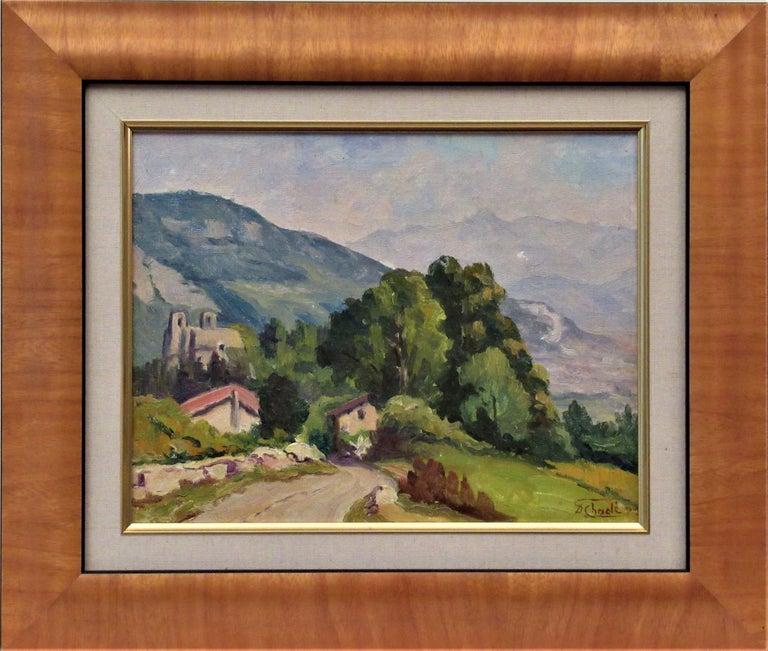 Florent Chade Landscape Painting - Cote de Lassange, Grenoble Belldone