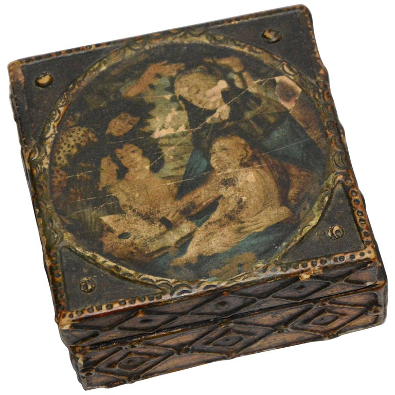 Florentine Box with Madonna and Child For Sale
