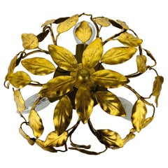 Florentine Flower Shape Flushmount Attributed to Banci Firenze, 1950s