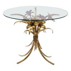 Florentine Metal Flower Coffee Table by Hans Kögl, Germany, 1970s
