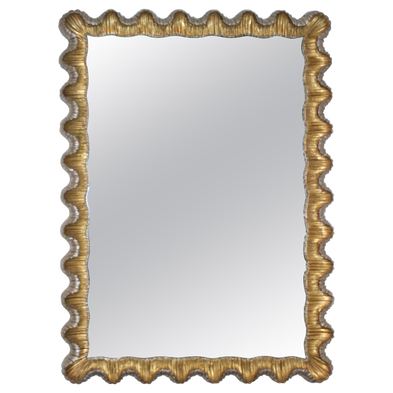 Florentine Mirror Gold and Silver Leaf Frame