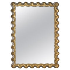 Florentine Mirror Gold and Silver Leaf Frame