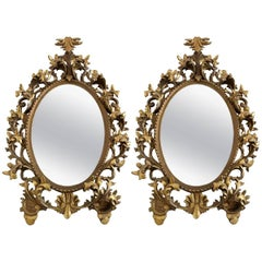 Florentine Style Giltwood and Gesso Mirrors