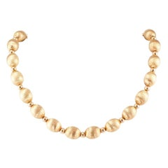 Florentine Yellow Gold Bead Necklace
