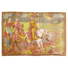 Florescent Pictorial Karabagh Rug