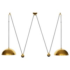 Florian Schulz Attributed Double Dome Counterbalance Pendant