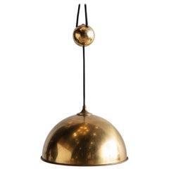 Florian Schulz Brass Counterweight Pendant Light