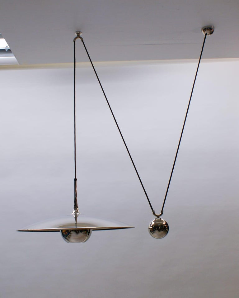 Florian Schulz Brass Onos Pendant with Counterweight, Germany, 1970s In Good Condition For Sale In Nürnberg, Bayern