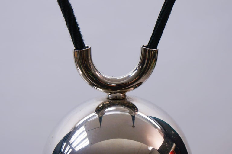 Florian Schulz Brass Onos Pendant with Counterweight, Germany, 1970s For Sale 4