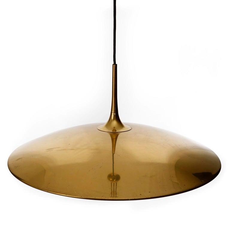 Florian Schulz Brass Pendant Light 'Onos 55' Counterweight Counter Balance, 1970 For Sale 5