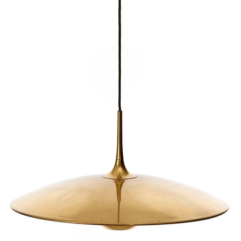 Florian Schulz Brass Pendant Light 'Onos 55' Counterweight Counter Balance, 1970 For Sale 6