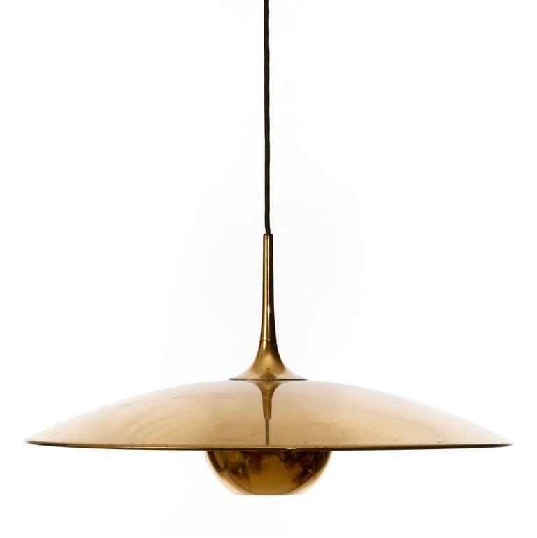 Florian Schulz Brass Pendant Light 'Onos 55' Counterweight Counter Balance, 1970 For Sale 7