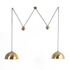 Florian Schulz Double Counter Balance Brass Pendants