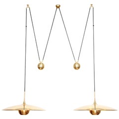 Florian Schulz Double Onos 55-Pendant Lamp with Side Counter Weights