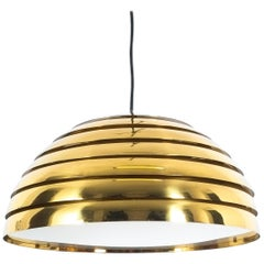 Florian Schulz Large Brass Dome Pendant, Germany