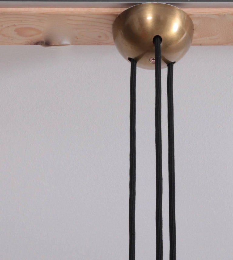 Mid-Century Modern Florian Schulz Posa Centerweight Pendant Light in Brass, Germany For Sale