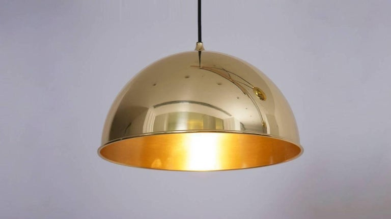 Mid-Century Modern Florian Schulz Posa Pendant with Counterweight in Brass For Sale