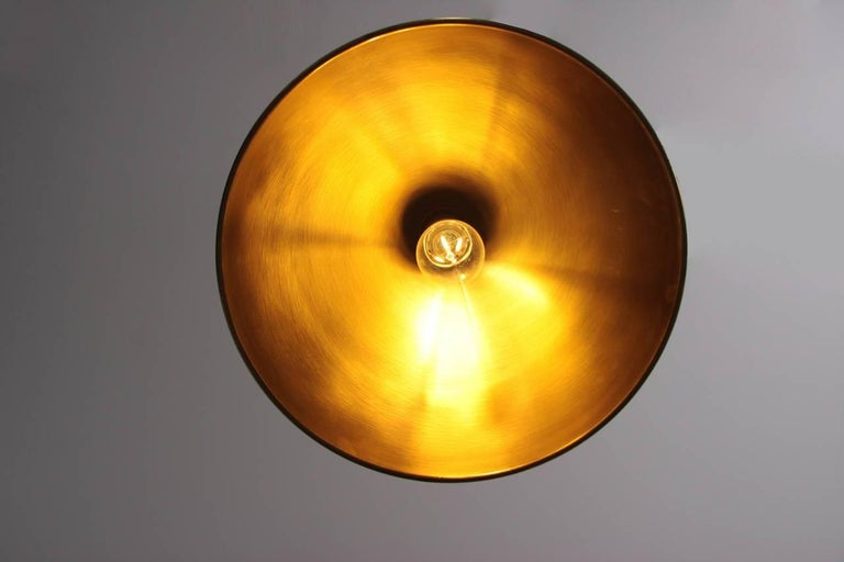 Florian Schulz Posa Pendant with Counterweight in Brass For Sale 1