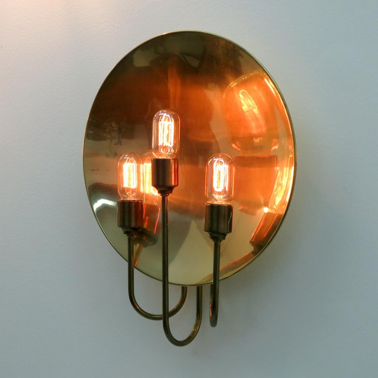 Mid-20th Century Florian Schulz 'W185' Brass Wall Light, 1960 For Sale