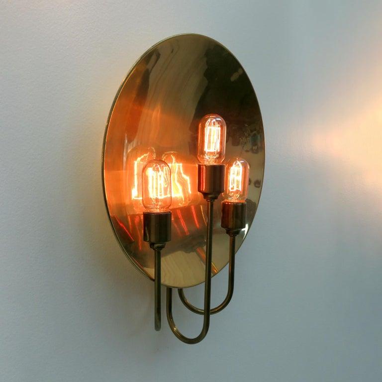 Florian Schulz 'W185' Brass Wall Light, 1960 For Sale 2