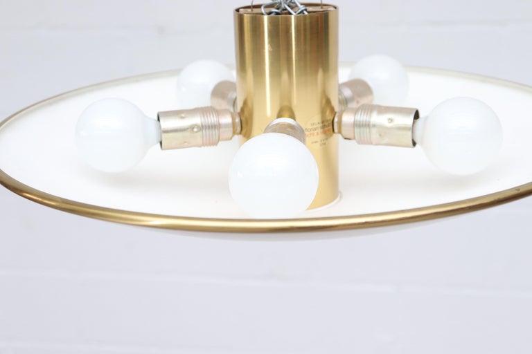 Florian Shultz Brass Flush Mount Ceiling Lamp For Sale 1