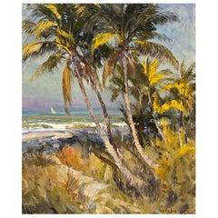 Florida Gulf Coast Painting by Robert C. Gruppe