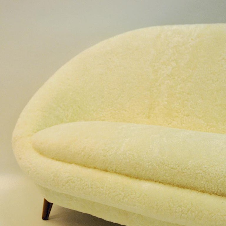 Mid-20th Century Midcentury Floridasofa in sheepskin from Vatne - Norway 1950s For Sale