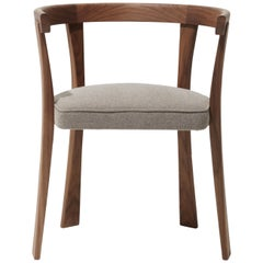 Floridita Chair, Solid Walnut Wood, Seat in Fabric, David Ericsson