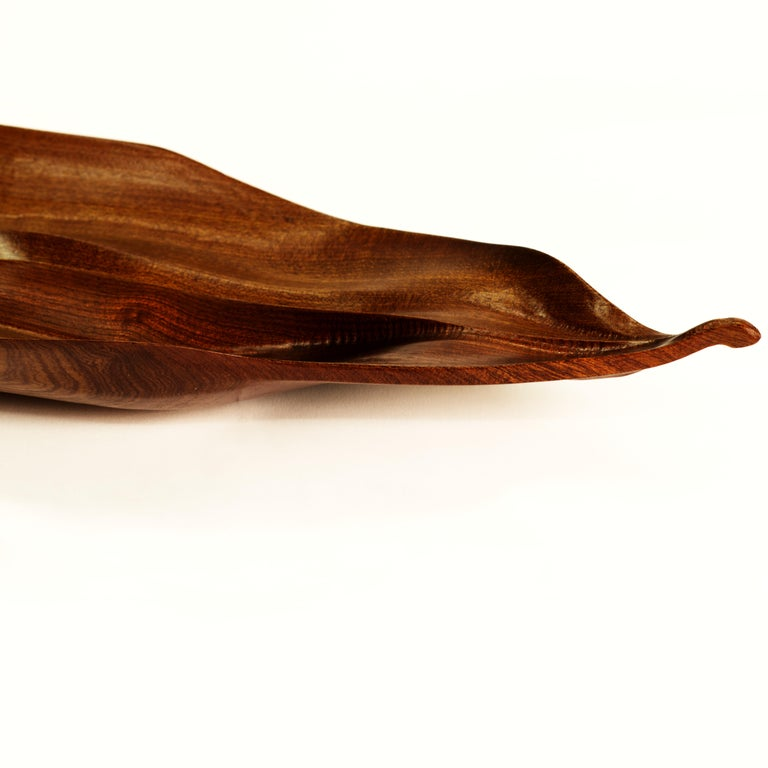 Oiled Florimel Sculptural Bowl in Mahogany For Sale