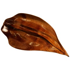 Florimel Sculptural Bowl in Mahogany