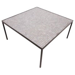 Floris Fiedeldij for Artimeta Attrb. Mosaic and Metal Coffee Table, Dutch, 1950s