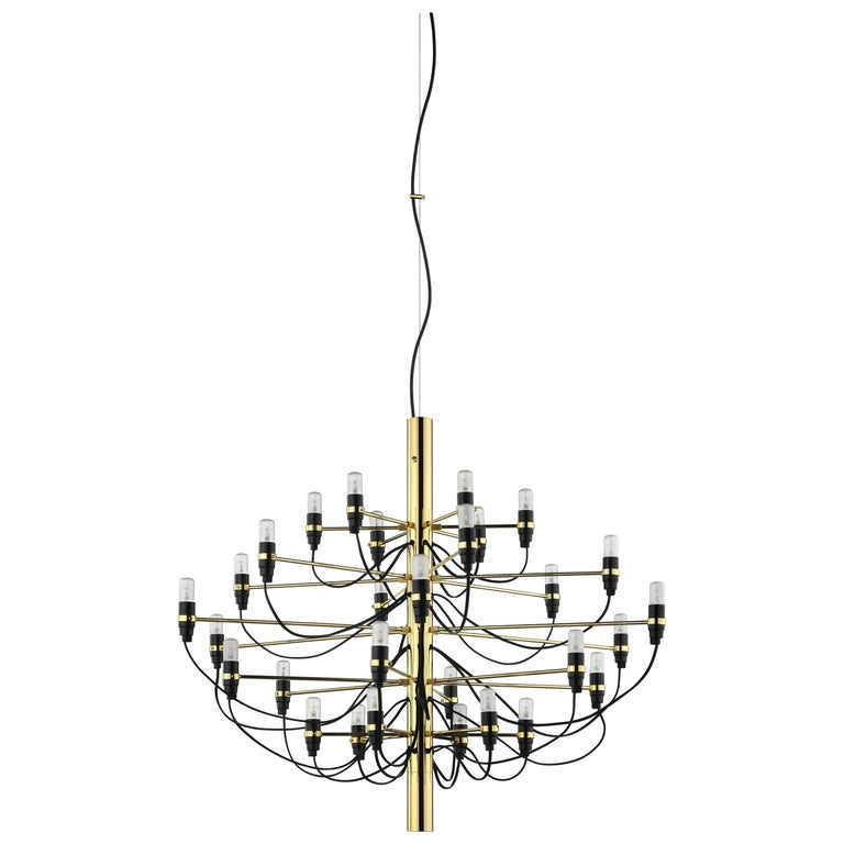 flos 2097  30 pendant light in brass by gino sarfatti for sale at 1stdibs